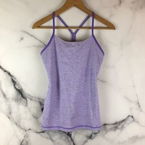 Lululemon 6 Lilac Wee Stripe Power Y Tank